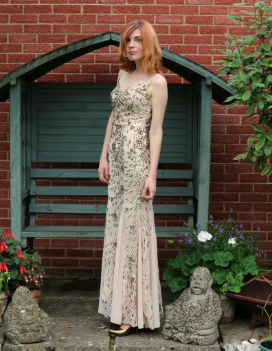 sequinned maxi dress from quiz clothing