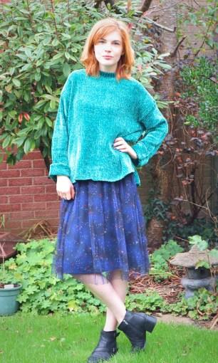monki mesh skirt