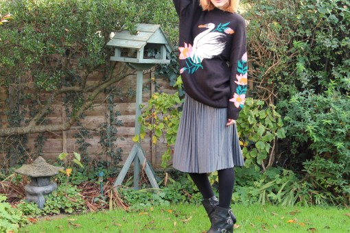 pleated jumper and baggy jumper
