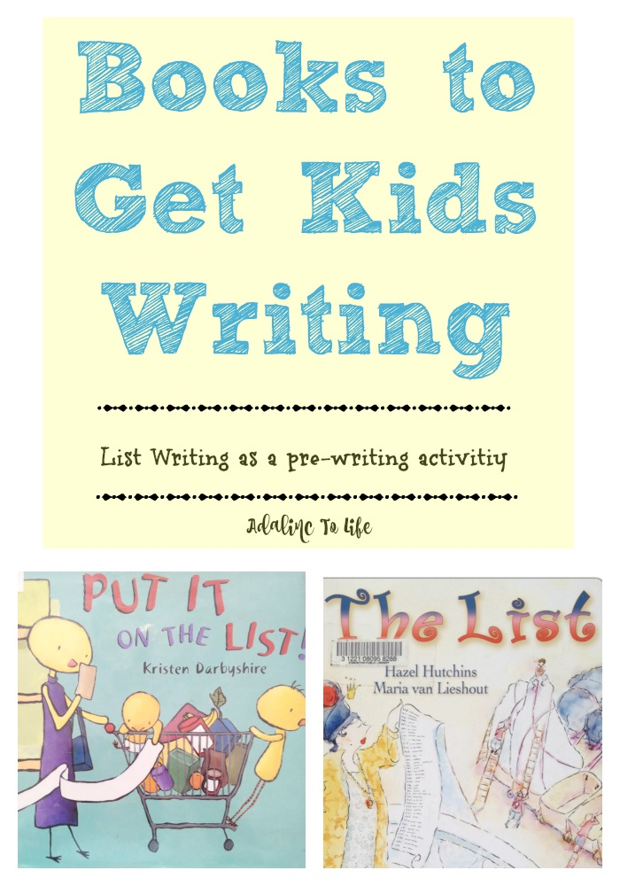 Early Writing Activity with Books: List Making