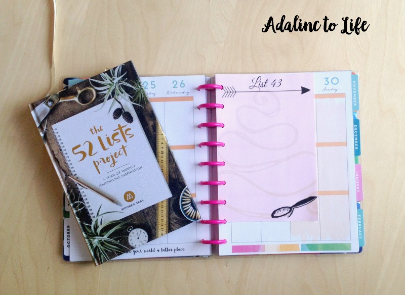 Beginning the 52 Lists Project & Free Printables