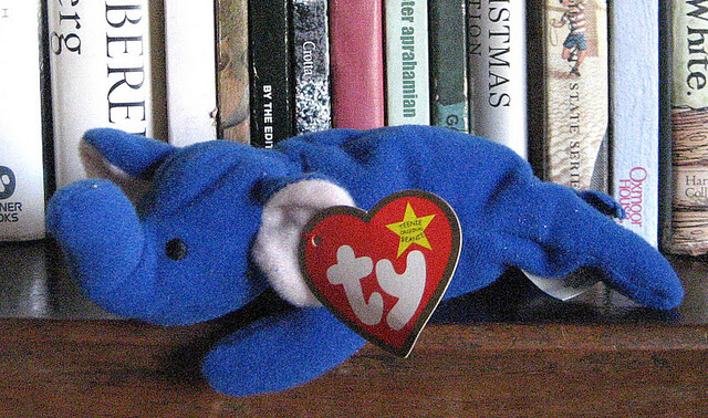 peanut the elephant royal blue beanie baby