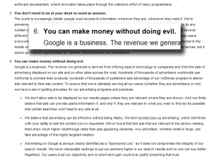 Google Do No Evil Policy