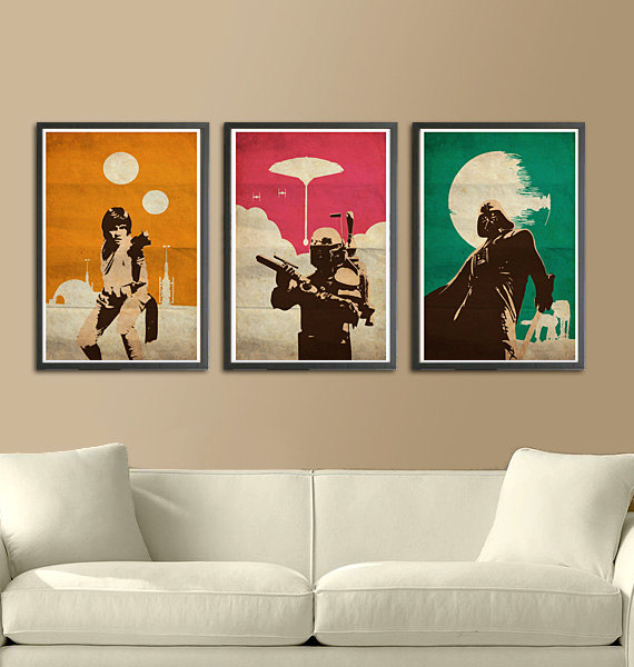 Got a Star Wars geek? Pick up these pop art inspired prints