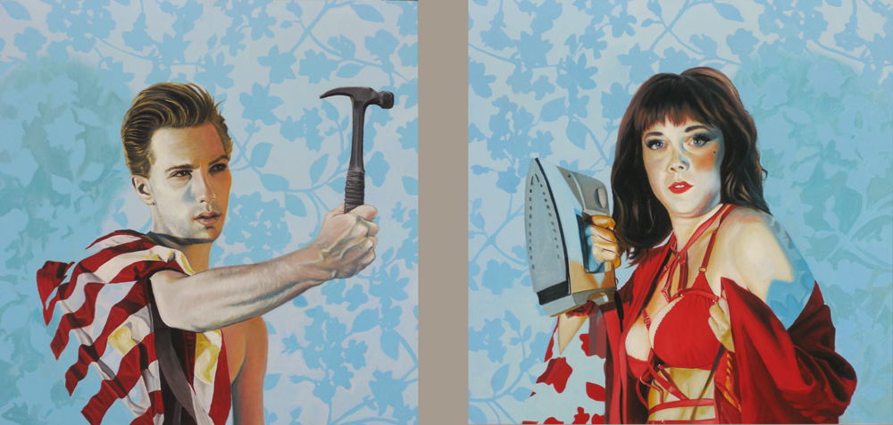 Untitled 030 (Hammer and Iron) dyptych