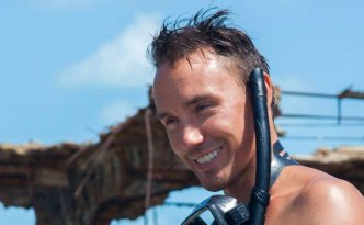 Rob gearing up for a day in the water.    Photo: Courtesy Sharkwater Extinction Production