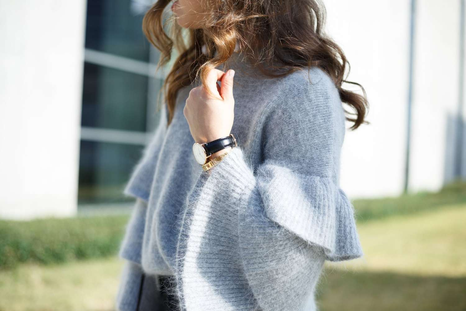 Grey Cozy Sweater for Fall