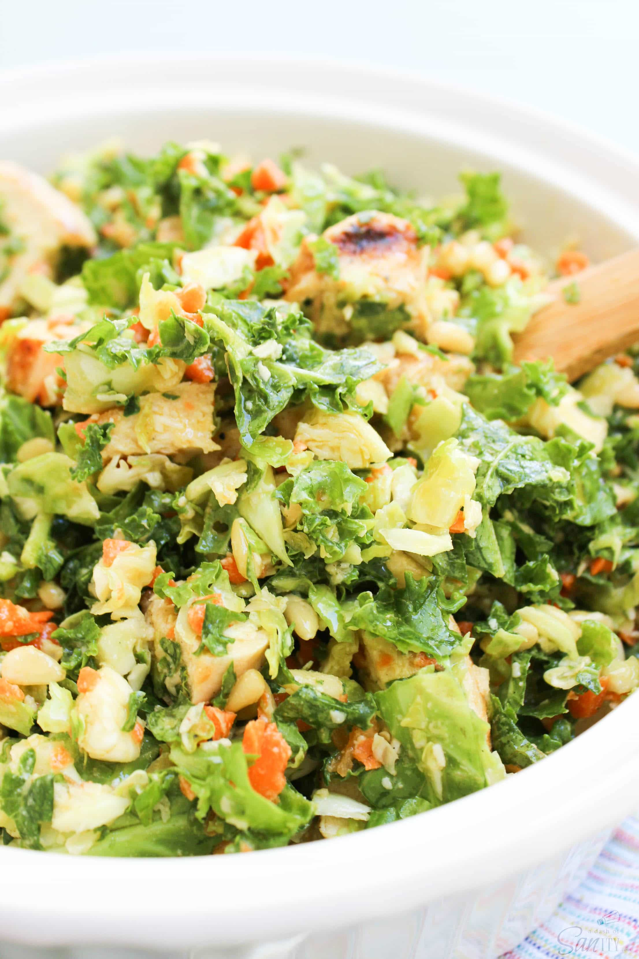 Farmhouse Rules Salad Recipes Chicken And Kale Brussels Sprouts Salad