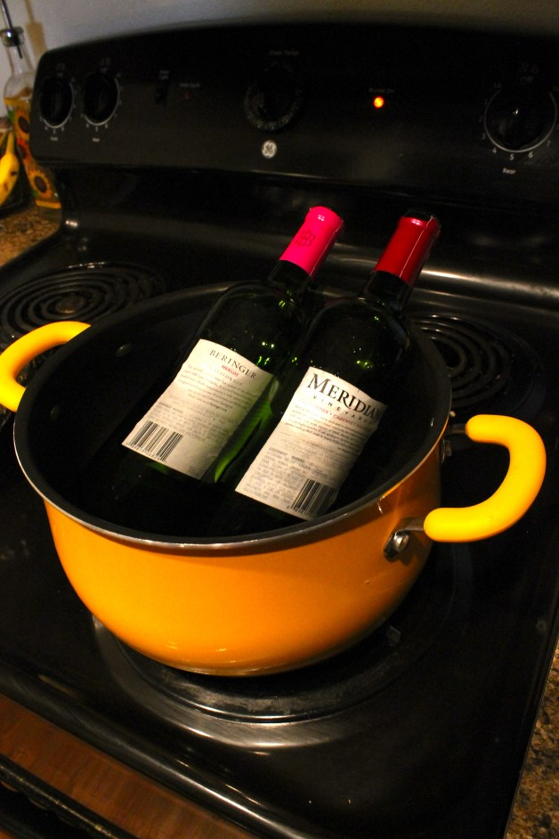 Soak Wine Bottles to Remove Wine Labels
