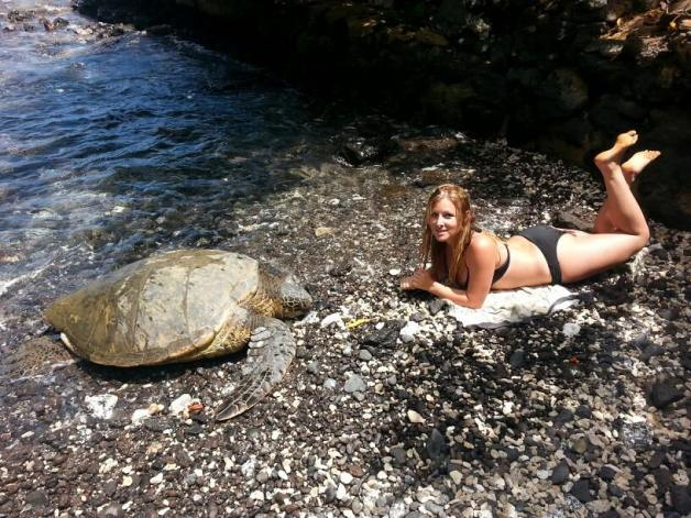 Lying with a Sea Turtle
