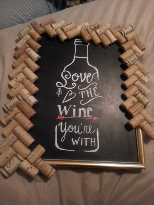 chalkboard DIY wine art quote decor