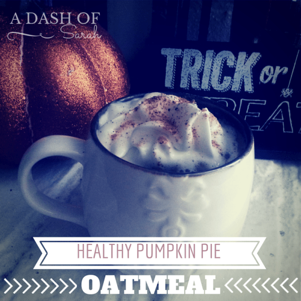 Easy and Healthy Slow Cooker Pumpkin Pie Oatmeal