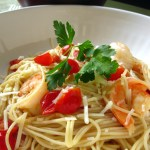 Shrimp & Grape Tomato Pasta (for two)