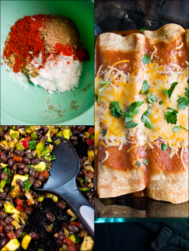 Vegetarian Enchiladas from A Dash of Soul