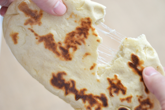 Cheese Stuffed Naan Bread