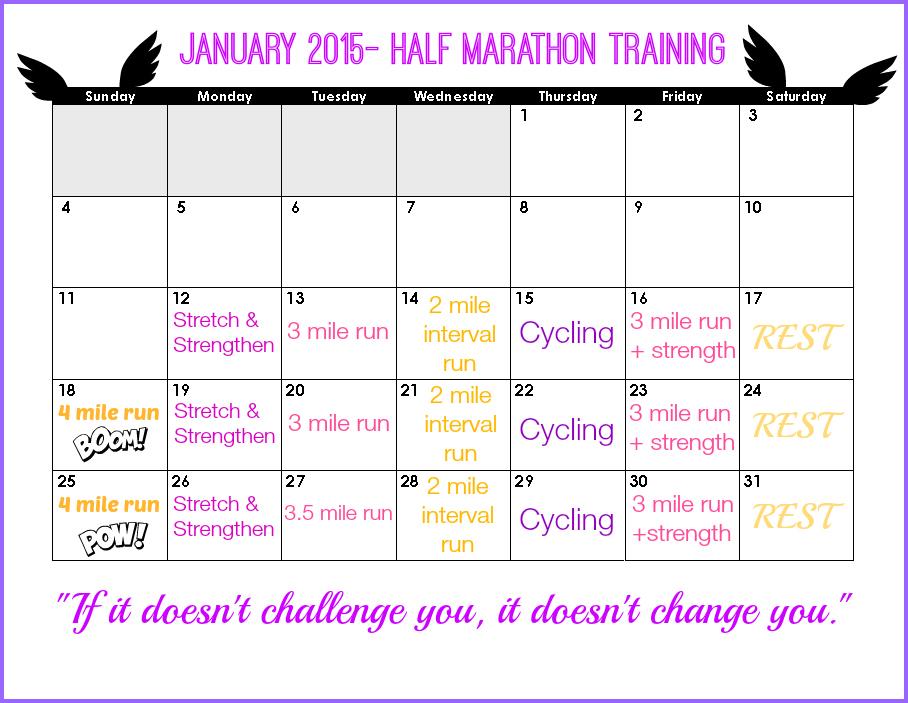 January Half Marathon Training