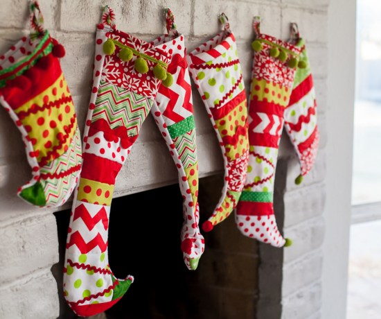 DIY Grinch Christmas Stockings