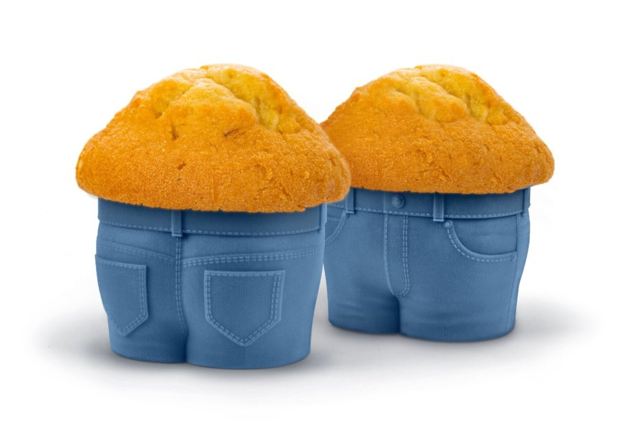 MUFFIN TOPS Denim-Style Baking Cups