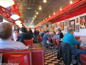 Another interior shot a 1950's style diner, Dave's Diner in Middleboro