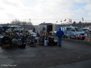 Outdoor vendors at Raynham Flea Market in Raynham, MA