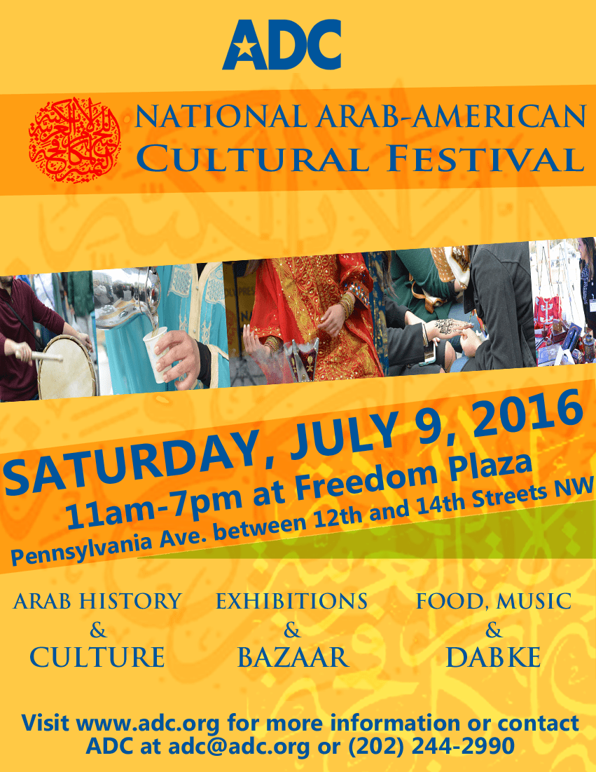 Adc Festival Adc Save The Date 2nd Annual National Arab American Cultural