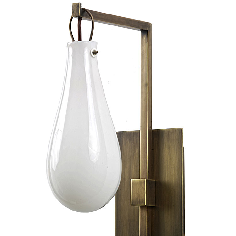 Portfolio Lighting Wall Sconces Modern Brass Sconce With Mouth-blown Art Glass Balloon