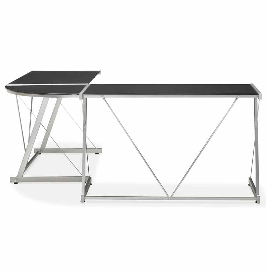 Bureau Verre Noir Grand Bureau Dangle Geek Design En Verre Noir Addesign