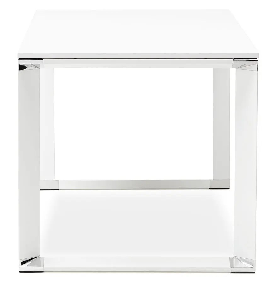 Bureau De Direction Design Blanc Bureau De Direction Droit Design Xline En Bois Blanc 160x80 Cm Addesign