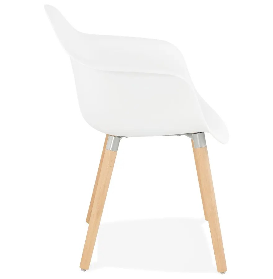 Chaises Blanche Scandinave Chaise Avec Accoudoirs Olivia Blanche Style Scandinave Addesign