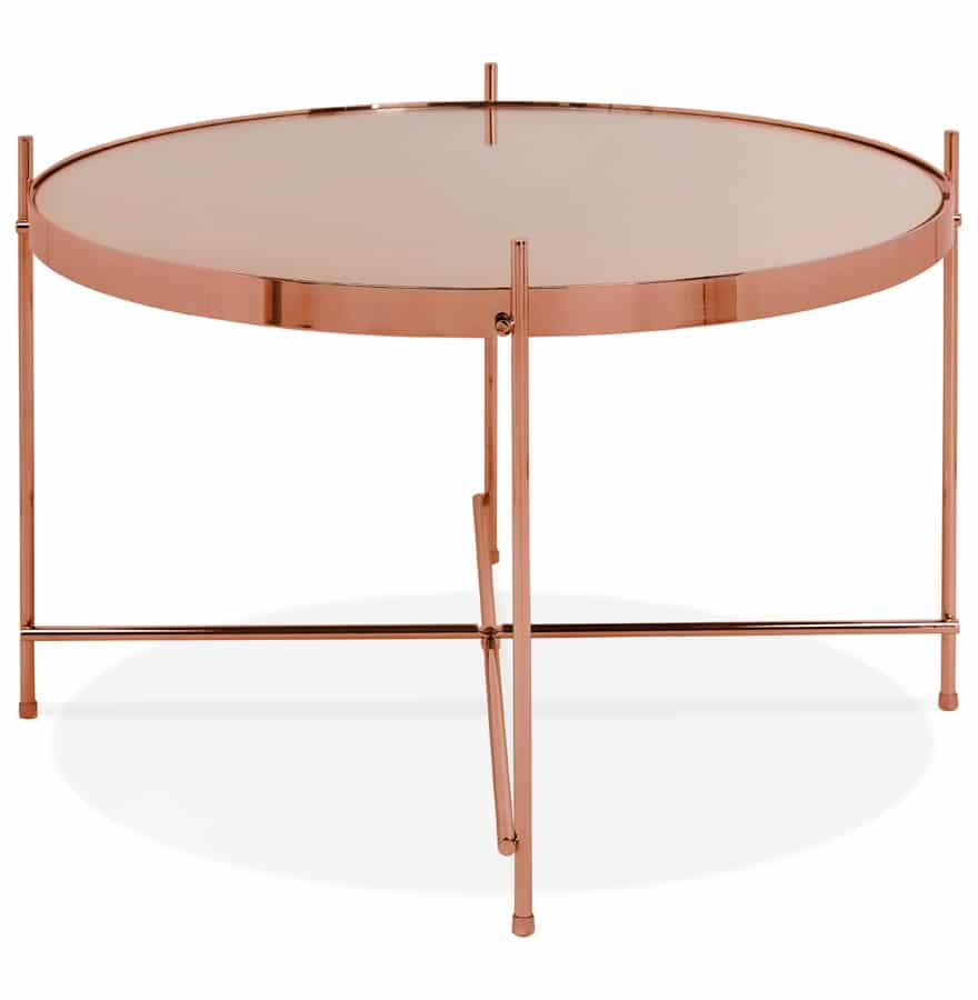 Table Basse Cuivre Table Basse Kolos Medium Couleur Cuivre Addesign