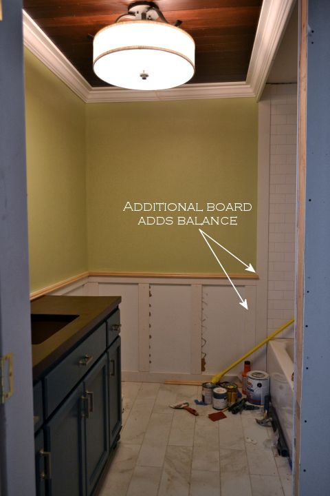 Recessed Panel Wainscoting With Tile Accent Part 1 Addicted 2 Decorating