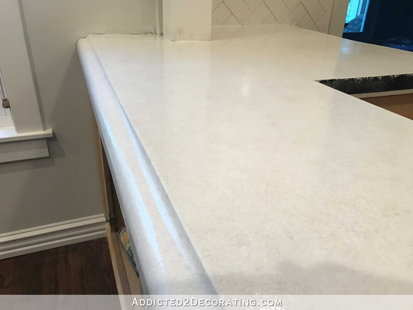 Finished Concrete Countertops Refinishing Concrete Countertops Part 3 Of 3 Addicted