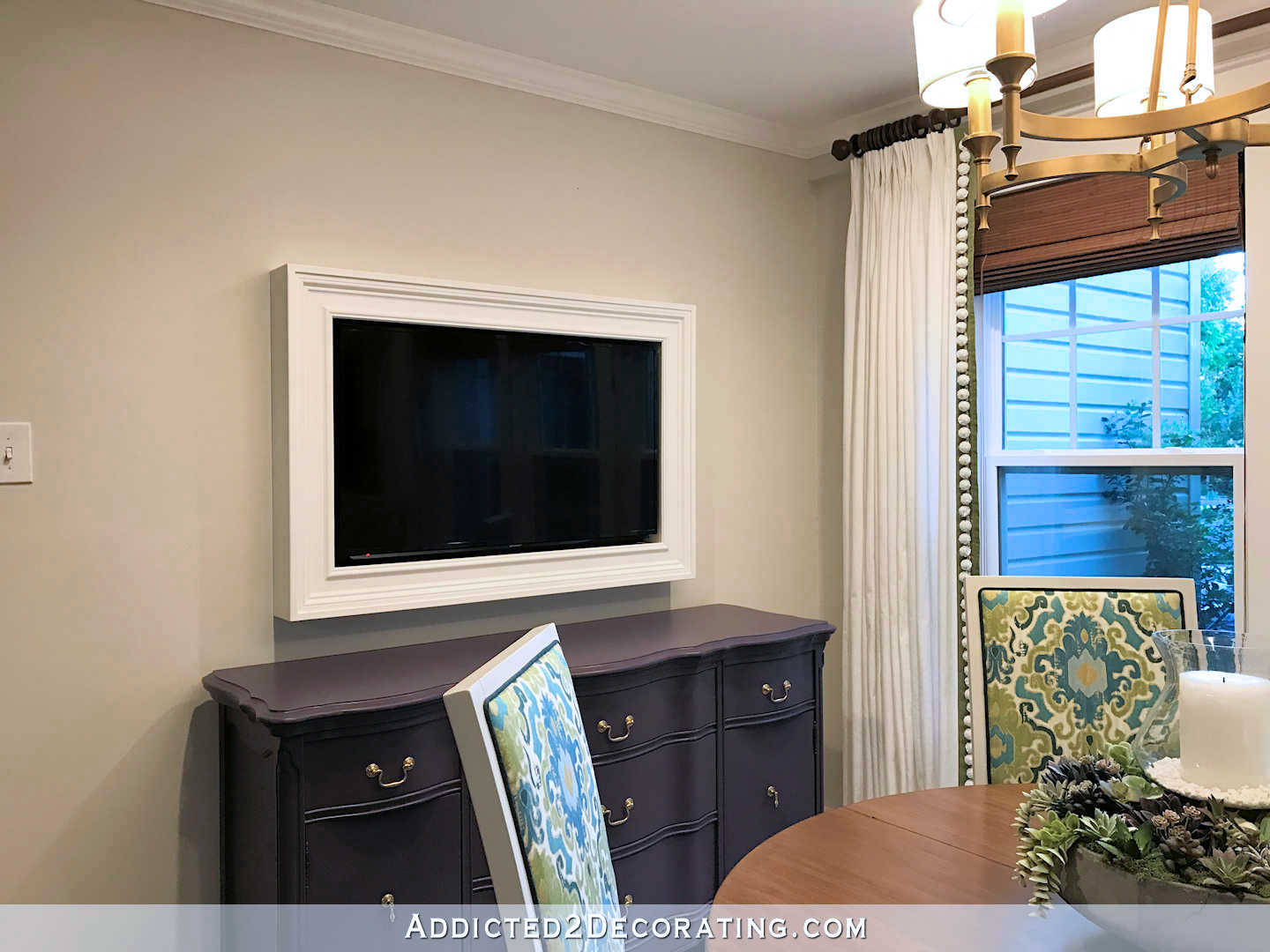 How To Put A Tv On A Wall Custom Diy Frame For Wall Mounted Tv Finished