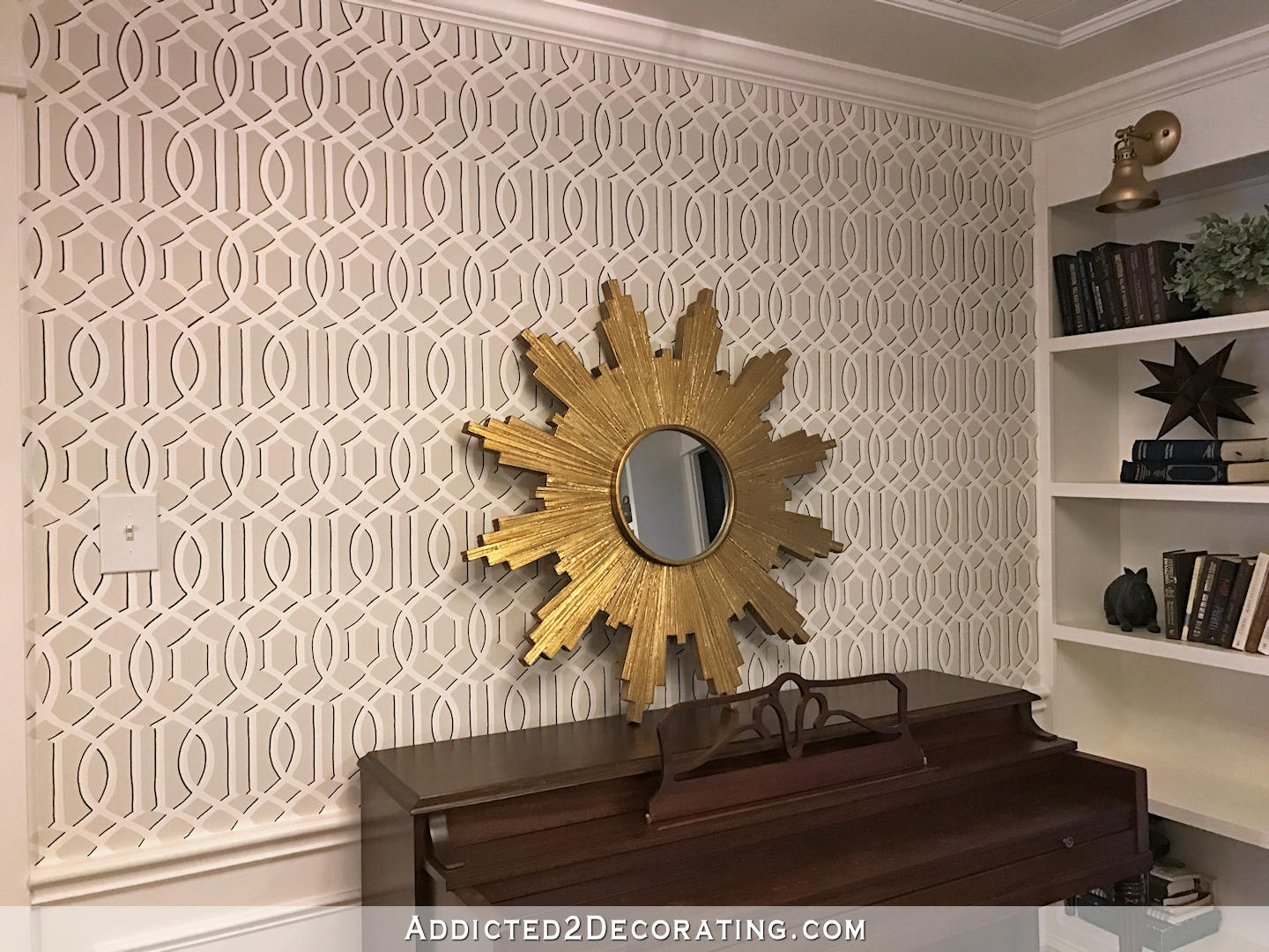 Music Room Stenciled Walls Update Addicted 2 Decorating