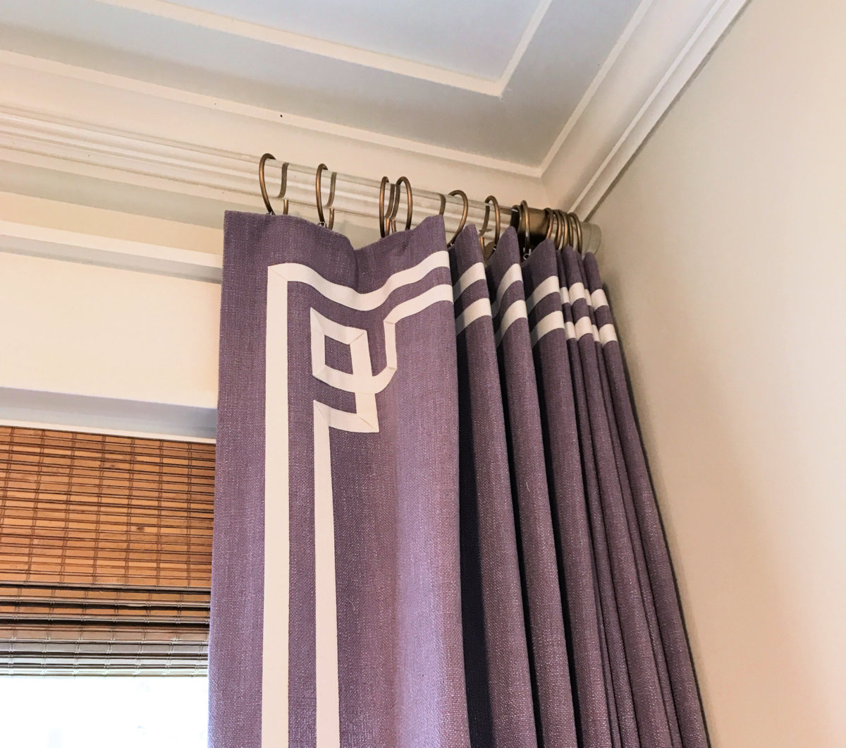 Ribbon Trim Curtains Diy Greek Key Trim Curtains Video Create A Greek Key Design With