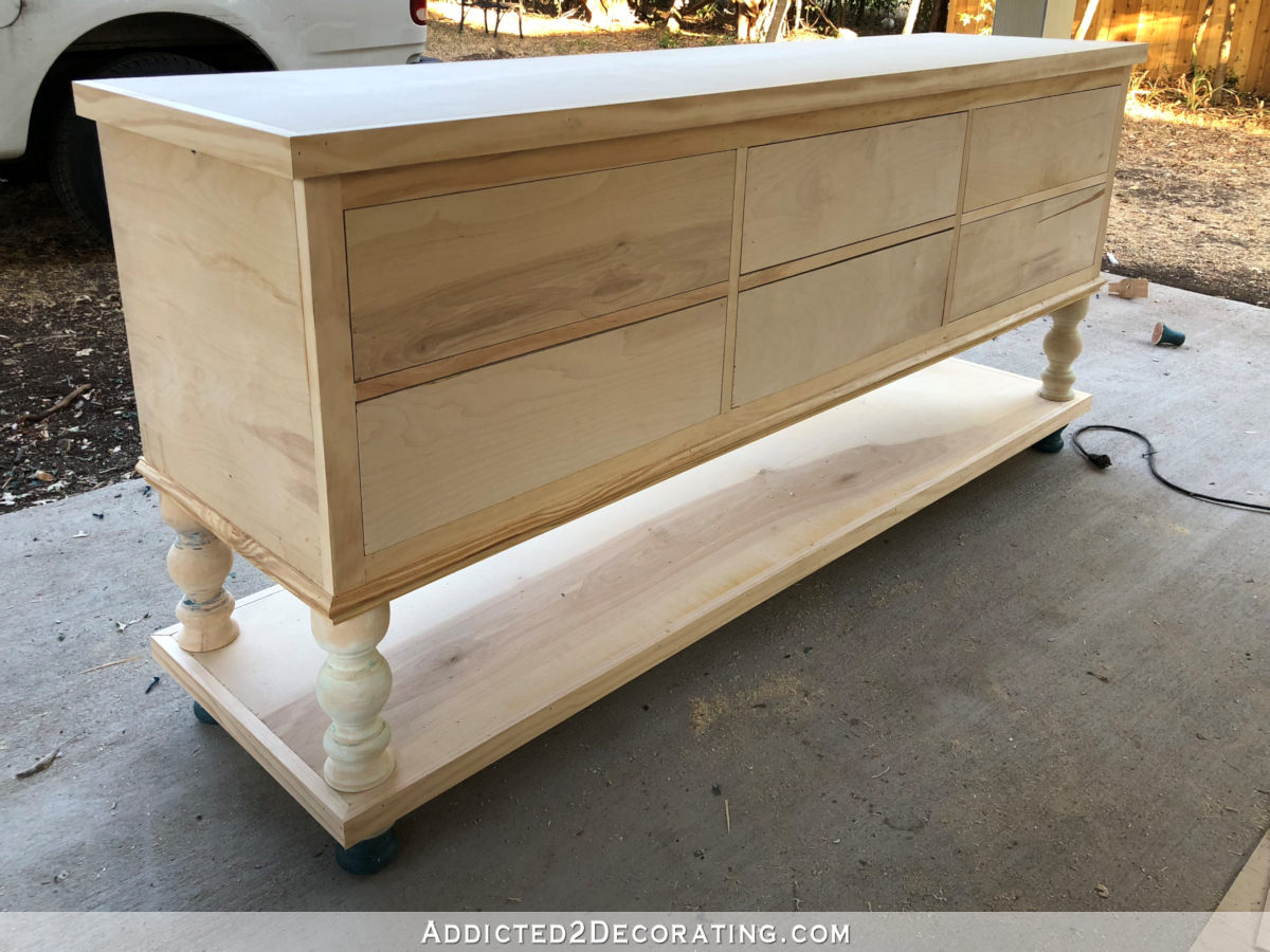 Console Table But Diy Six Drawer Console Table With Lower Shelf Part 2 The