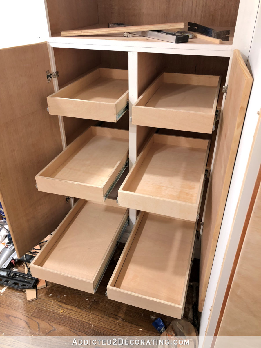 Pantry Shelves Pantry Cabinet Progress Drawers Pull Out Shelves And Really