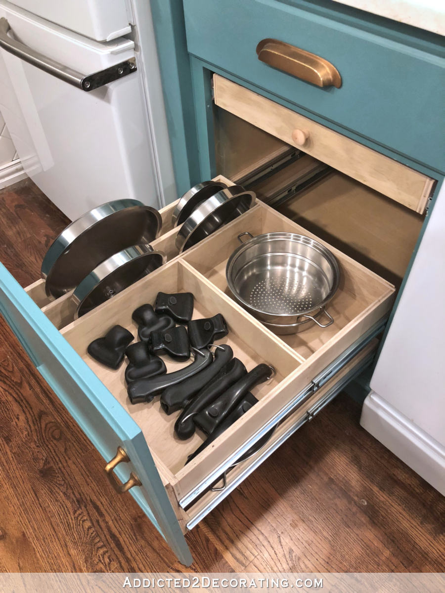 Diy Pull Out Shelves Pots Pans Organization Addicted 2 Decorating