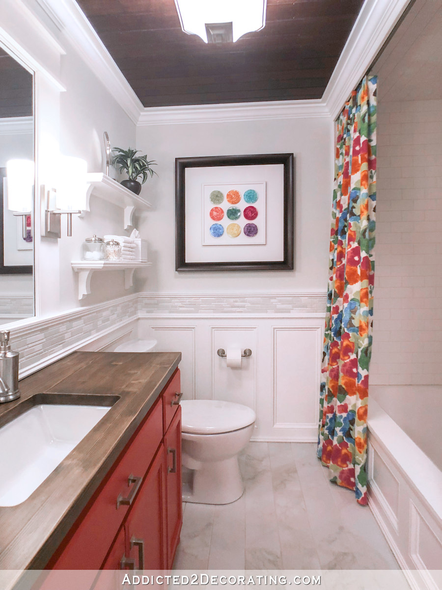 Small Bathroom Makeover Colorful Small Bathroom Makeover Addicted 2 Decorating