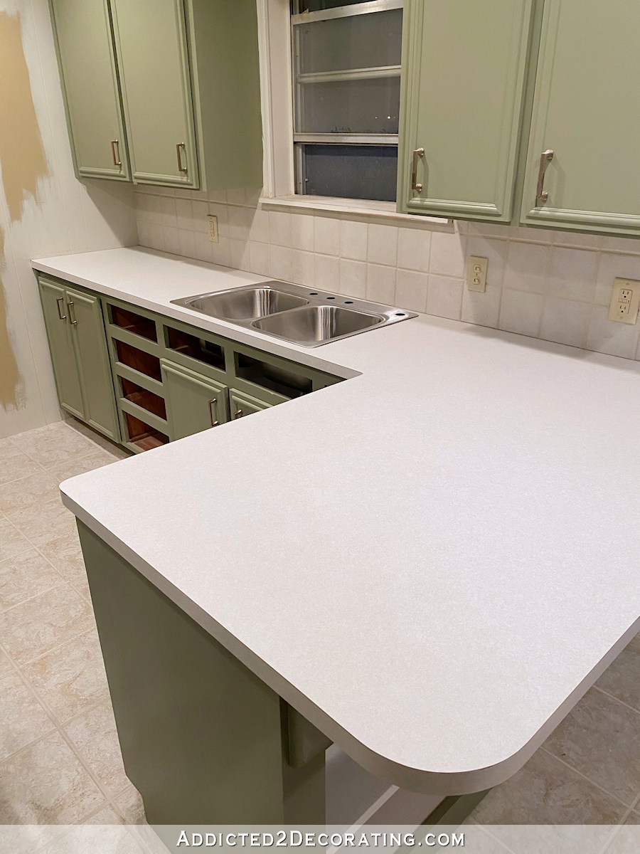 Diy Kitchen Countertop Installing New Laminate Over Old Laminate Addicted 2 Decorating