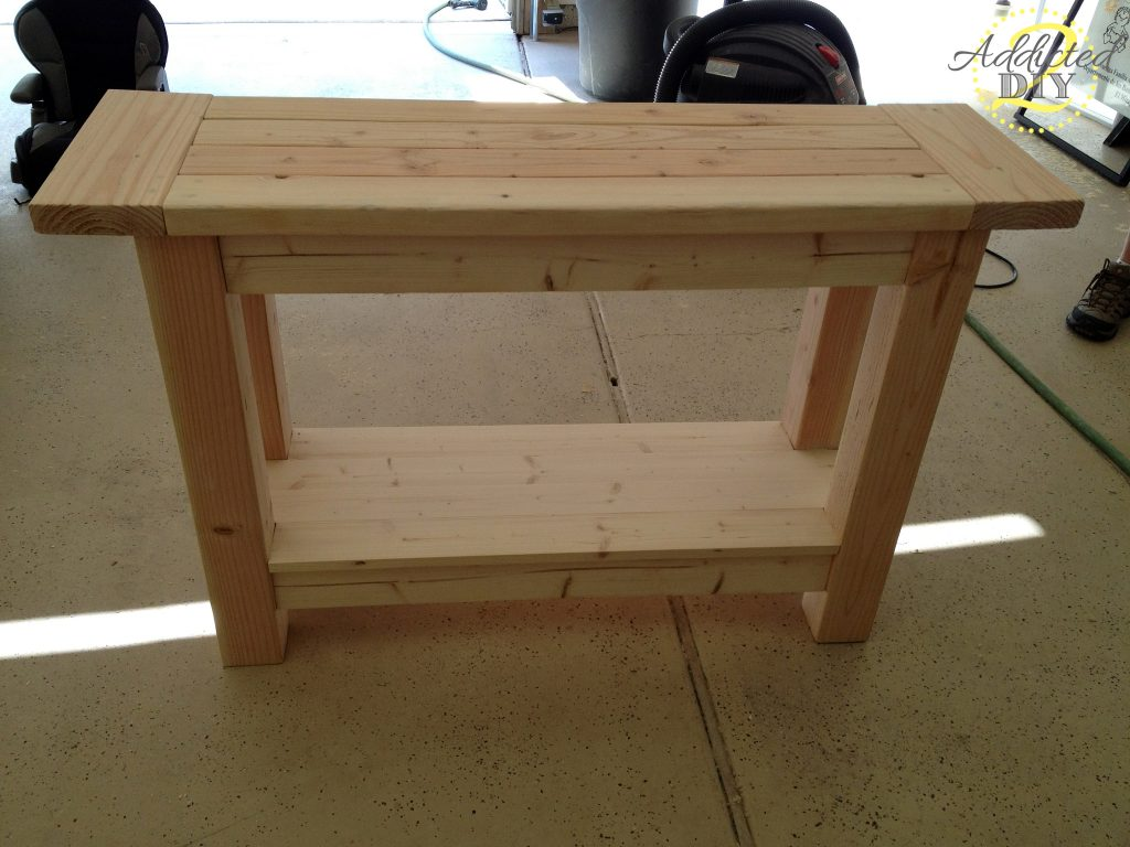 pottery barn inspired console table kitchen console table IMG edited