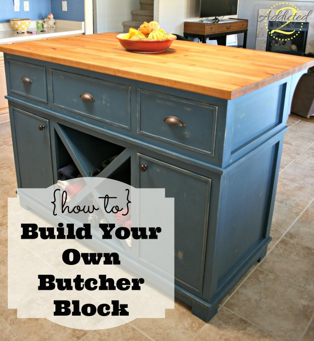 Diy Butcher Block Kitchen Island How To: Build Your Own Butcher Block - Addicted 2 Diy