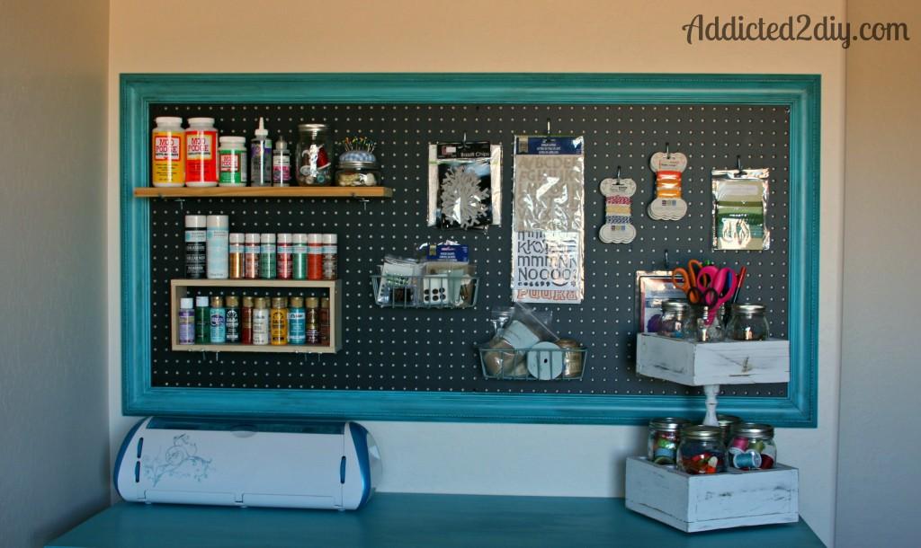 Craft Room Pegboard Organization - Addicted 2 DIY