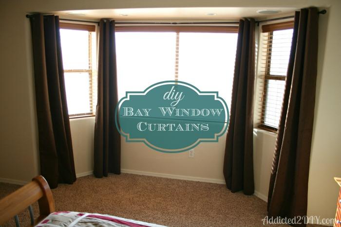 DIY Bay Window Curtains