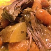 Weight Watchers Old Fashioned Pot Roast with Gravy