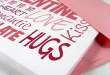 hugs and love valentine day card