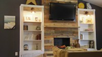 Diy Pallet Wood Fireplace  Addison Meadows Lane
