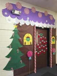 Gingerbread House Classroom Door - Addison's Wonderland