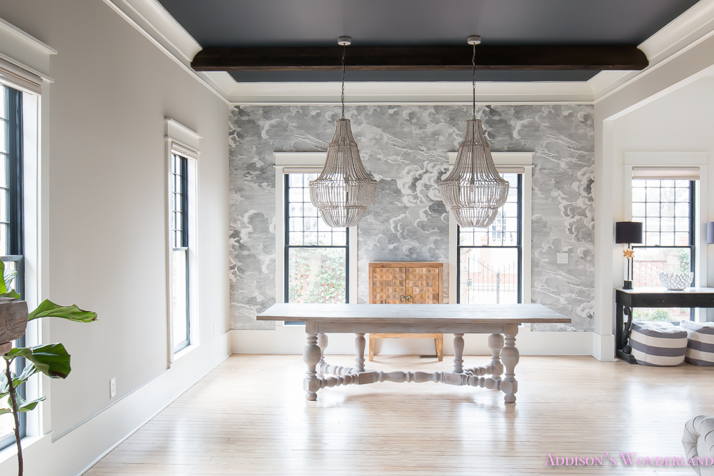 Fall Ceiling Wallpaper Dining Room Wallpaper Inkwell Black Ceiling Nuvolette