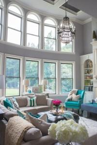 Color Pop Gray Blue Living Rooms